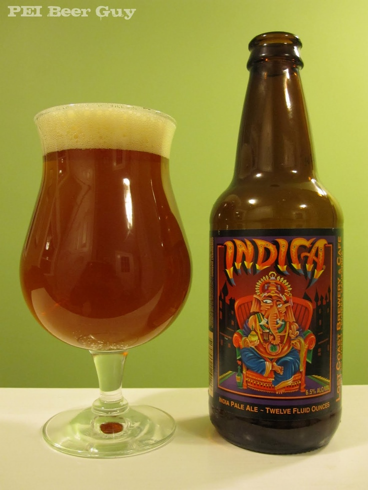 Lost Coast Indica American IPA. Once again the those crazy Humboldt guys are doing great things. This is a perfect example of what a west coast American IPA should be like. Strong Columbus, Willamette, and Centennial hop flavorings. If you're a hop-head like me, then you'll love this beer.