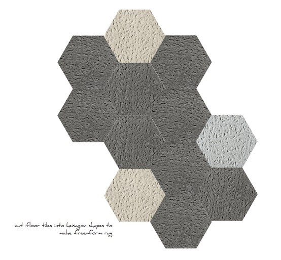 Hexagon Free Form Rug From FLOR Tiles... Hither U0026 Yon In Three