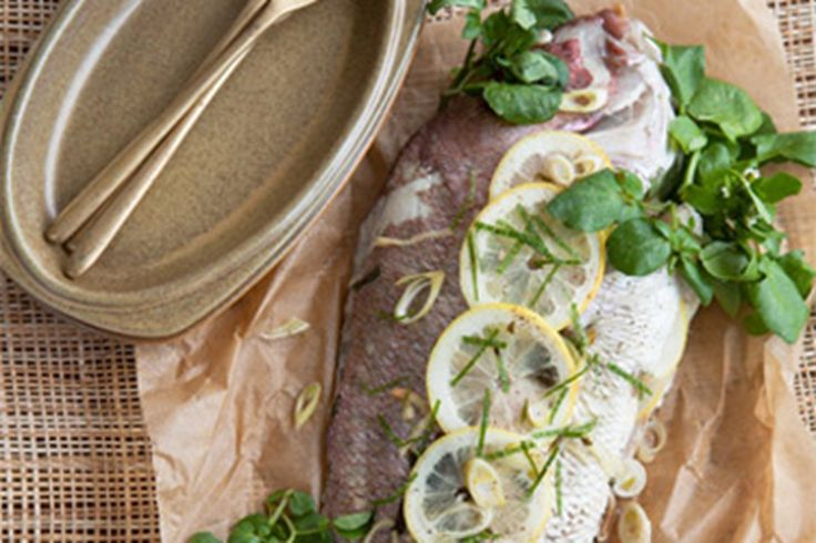 This recipe is ideal for any large fish you want to cook whole.