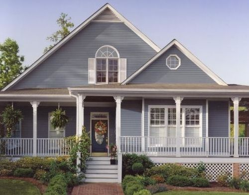 Grey Blue And White Exterior Colour Scheme Paintright