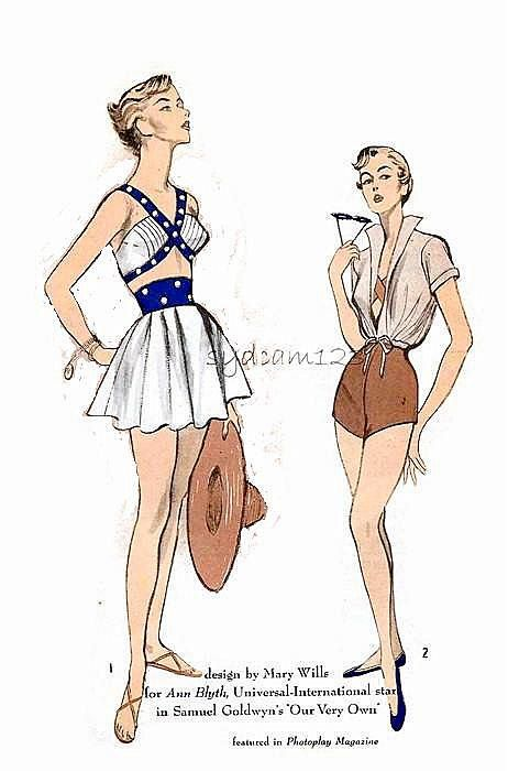 Movie cloths patterns from 1950