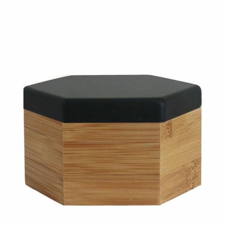 top3 by design - Evie - Hex box med matte black lid