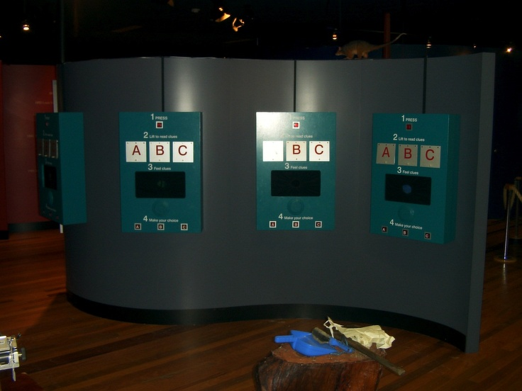 Museum interactive games. Custom electronics and sound devices.