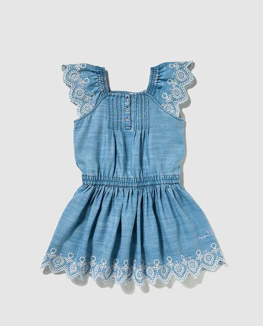 Vestido de niña Pepe Jeans azul denim
