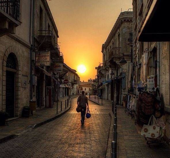 "fenestra-ad-scientiam: "" Sunset in the old town of Limassol, Cyprus."