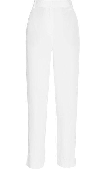 Tibi - Silk Crepe De Chine Wide-leg Pants - White - US12