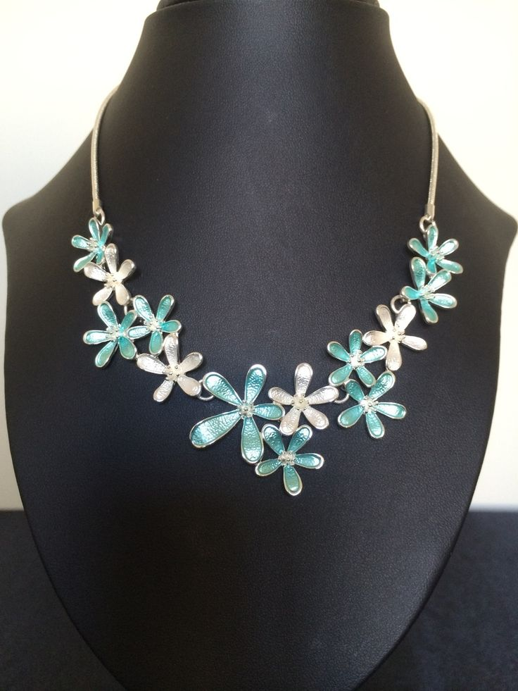 Unique Fashion Jewellery Australia - Spring Flowers Turquoise Daisy Chain Necklace, $58.00 (http://www.uniquefashionjewellery.com/spring-flowers-turquoise-daisy-chain-necklace/)