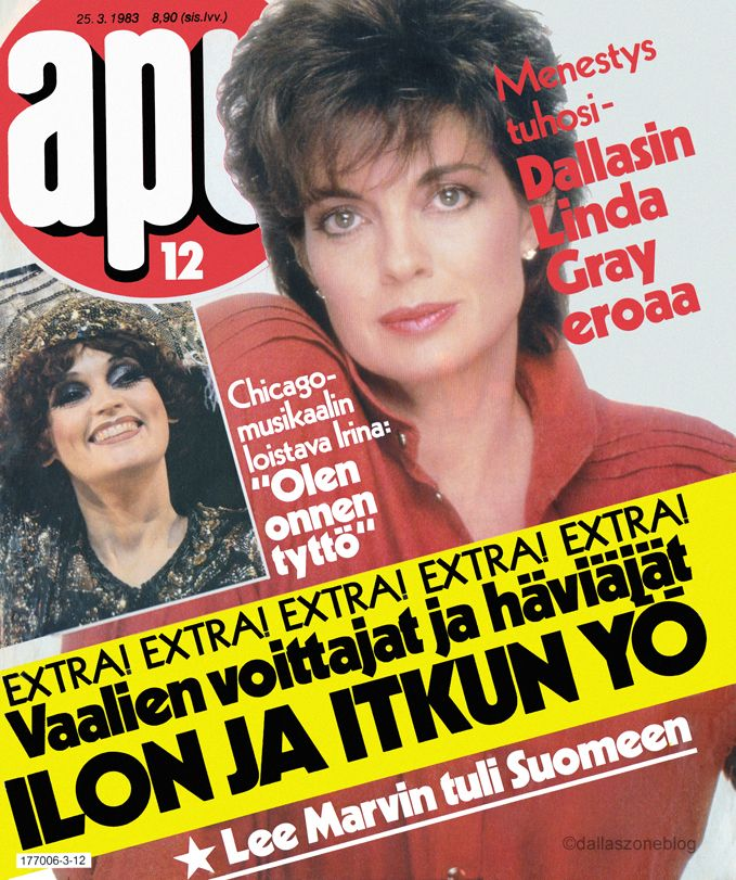 Linda Gray tells all about her divorce. Apu magazine 1983.