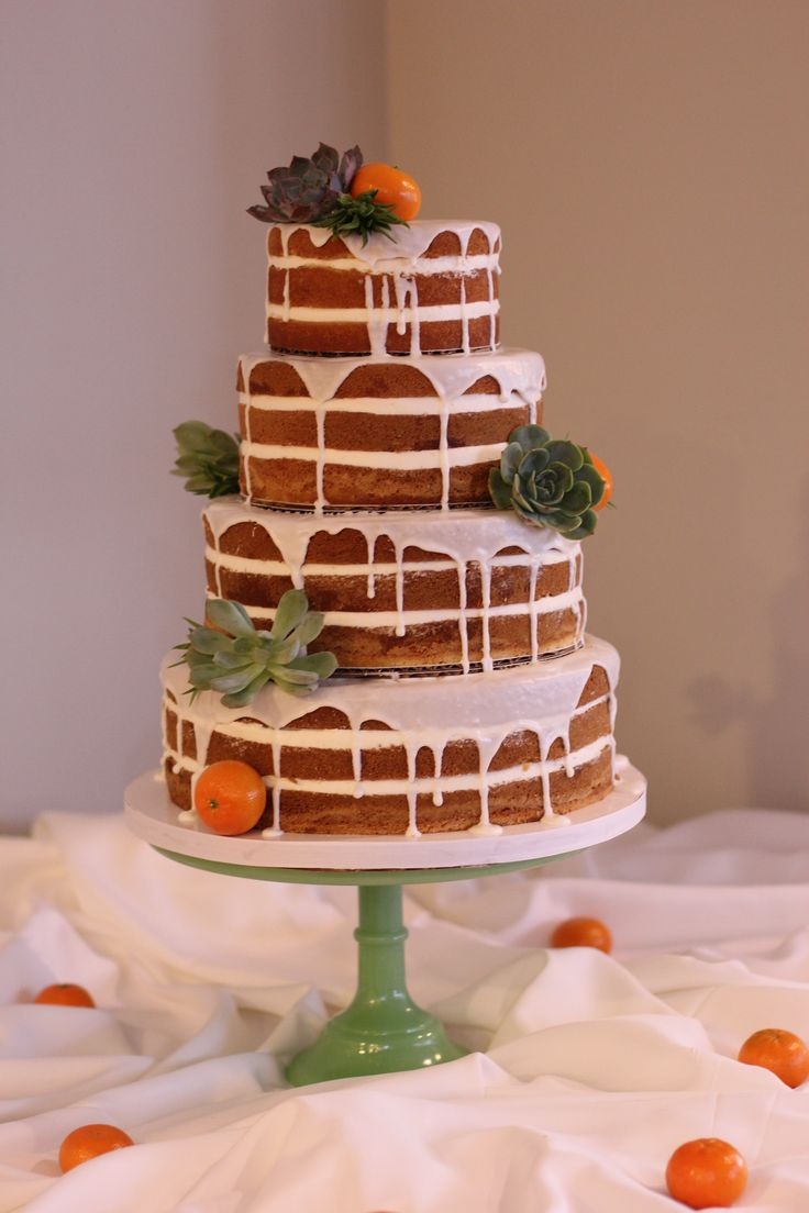 rustic naked wedding cake with oranges and succulents hands on sweets tampa florida www. Black Bedroom Furniture Sets. Home Design Ideas