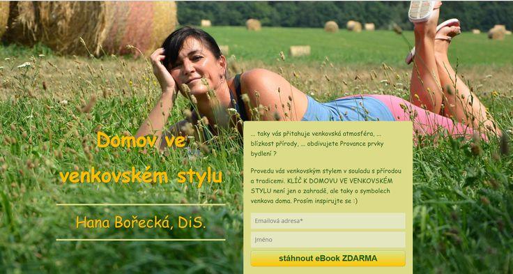 Hana Bořecká a její ebook ZDARMA: Domov ve venkovském stylu