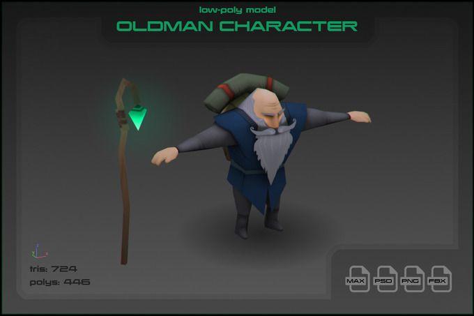 Oldman by stallfish's art store on @creativemarket