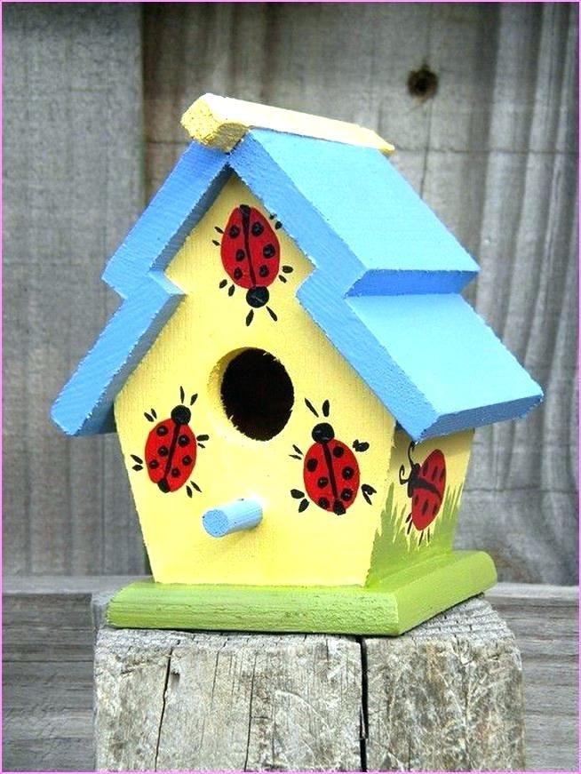 Birdhouse Painting Painted Birdhouse Designs Birdhouse Painting