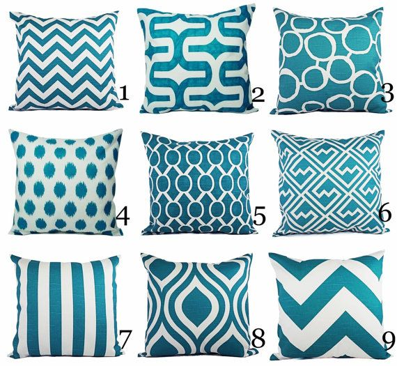 Throw Pillow Covers Pick Your Own Set of Two by CastawayCoveDecor