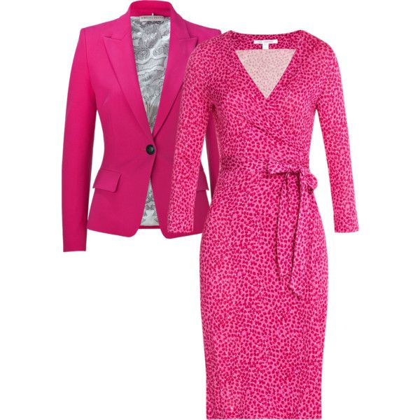 Wrap Dress all business by lachiner-1 on Polyvore featuring Diane Von Furstenberg and Emilio Pucci