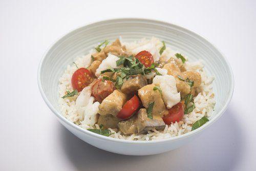 chicken and aubergine curry