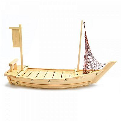 Barco Para Sushi 60cm em Madeira Zendai