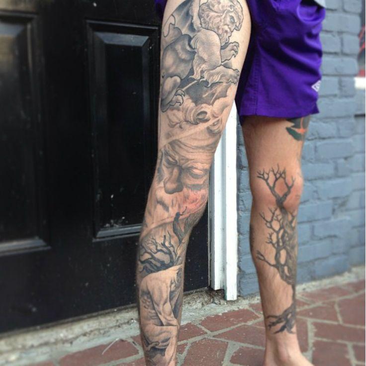 Tattoo Cool Legs: Horror, Leg Tattoo On TattooChief.com