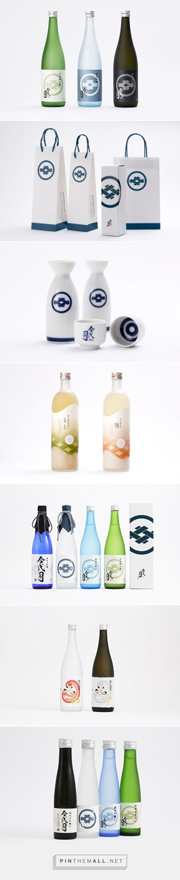 Graphic design, logo and packaging for Imayotsukasa Sake Brewery by Studio Cultivate via AWATSUJI design curated by Packaging Diva PD. Who want's some sake now?