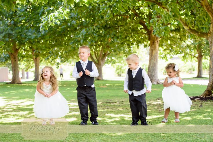 Such cute flower girls and page boys capturing everyone's hearts at Rebecca & Adam's wedding