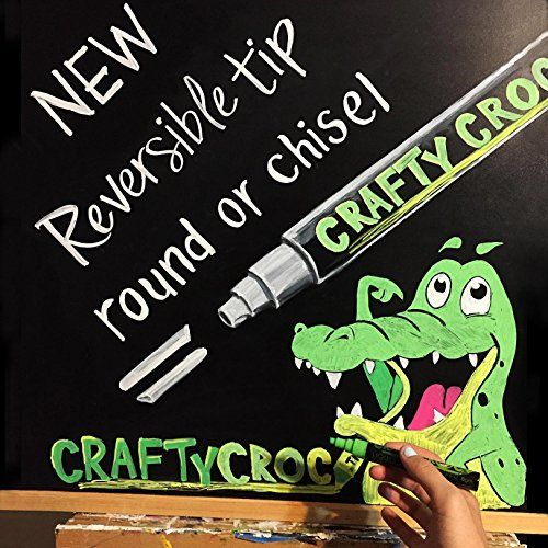 CHALK MARKERS – AWARD WINNING Mega 10 Pack – Each Premium Quality Pen With Unique Reversible Tip  CHALK MARKERS - AWARD WINNING Mega 10 Pack - Each Premium Quality Pen With Unique Reversible Tip   Your search for the PERFECT Liquid Chalk Markers is OVER!    When you purchase your box of 10 Neon CraftyCroc™ Chalk Pens today, here's what you should do...  As soon as the courier delivers the brown box from Amazon to your door rip it open, take out your CraftyCroc™ markers and delight in..