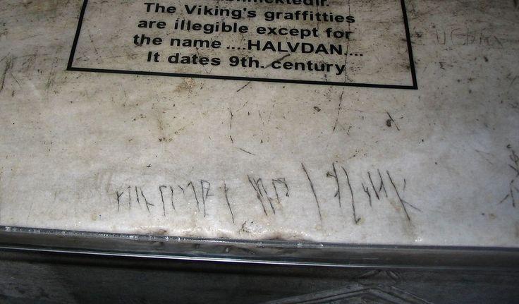 Viking incriptions in hagia sophia