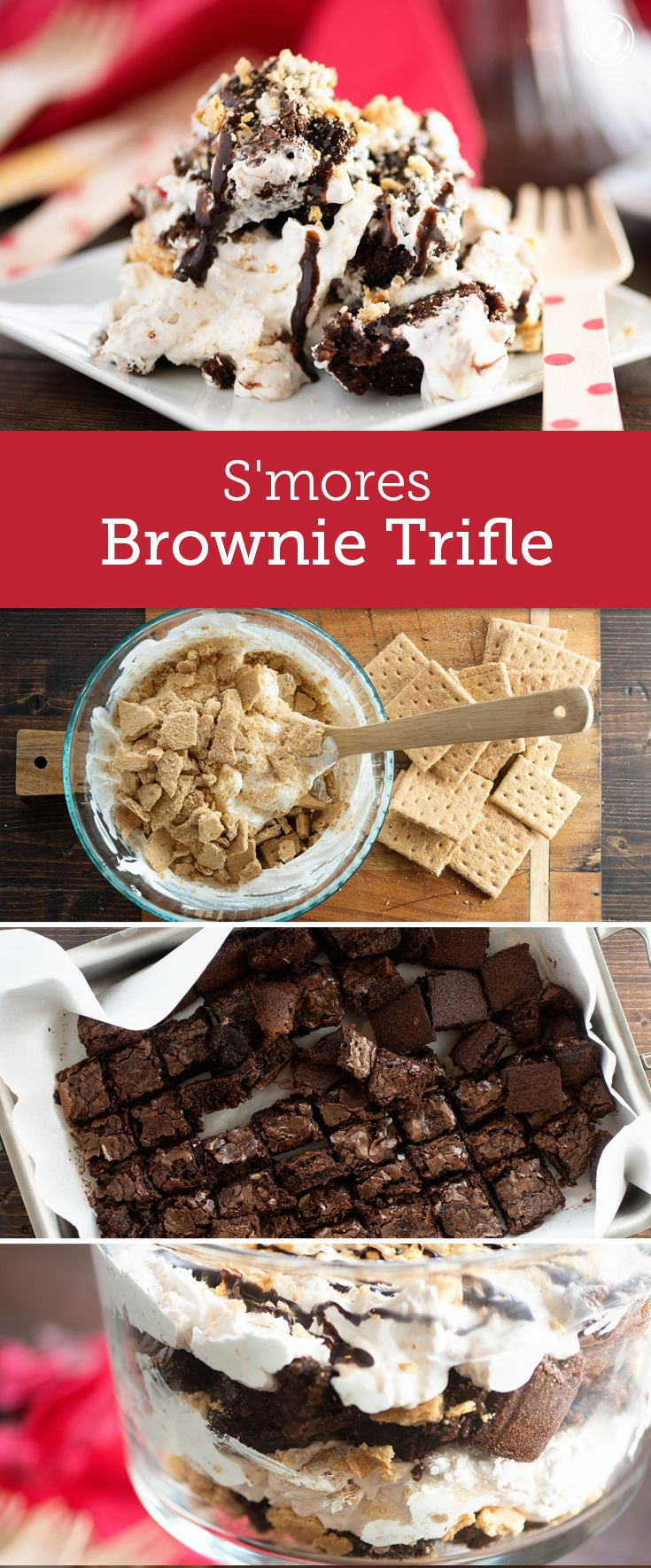 Skip the campfire and make s'mores indoors with this easy-to-assemble trifle!