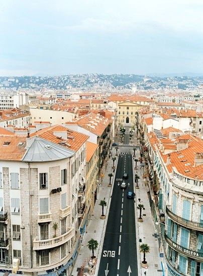 A bird's-eye view of Nice, France.. stayed a week in a Russian princess' beach house in 1985 cntraveler.com