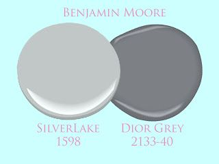 dior gray with silver lake benjamin moore - Google Search  possible bathroom wall/cabinet combo