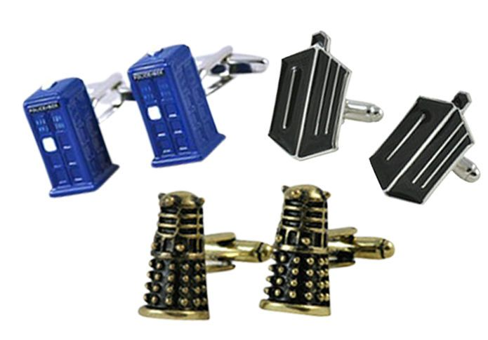The sharp dressing Whovian will love the Doctor Who Collection of unique and limited release cufflinks. The 3D Tardis cufflinks are ideal for the Gallifreyan time traveller. The DW symbol let's people know your affinity with the greatest doctor in the universe. And the 3D Dalek cufflinks will exterminate all others. Each pair is delivered in a gift box.
