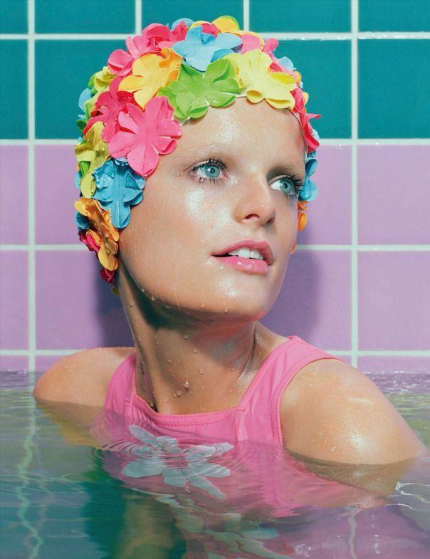 Hanne Gaby Odiele by Miles Aldridge for Vogue Germany June 2014