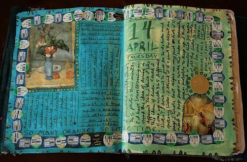art journaling samples.