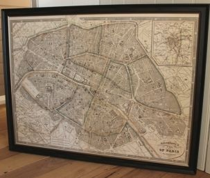 Travel back in time with this exquisite Paris vintage style map by artist Antonio Galignani.  Finished off with a rustic antique frame. View the whole collection online and instore now! #prints #french #france #map