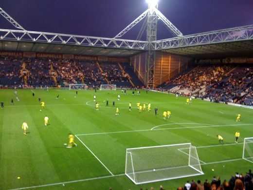 Deepdale, Preston North End....attended my first English football match with Dave, Preston vs Sheffield Wednesday. Not sure who they playing in this pic