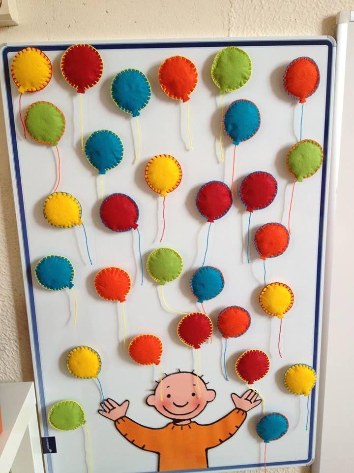 Superleuke aanwezigheidskalender met ballonnetjes!