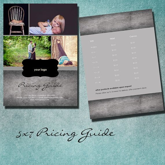 photography pricing guide price list by kmpdigitaldesigns on Etsy, $7.00