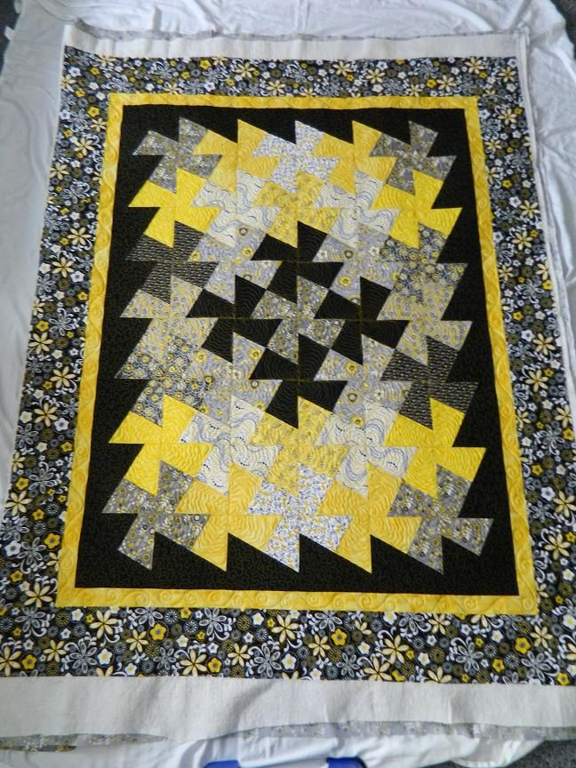 Yellow and black twister.  Love this color scheme for a gender-neutral nursery!