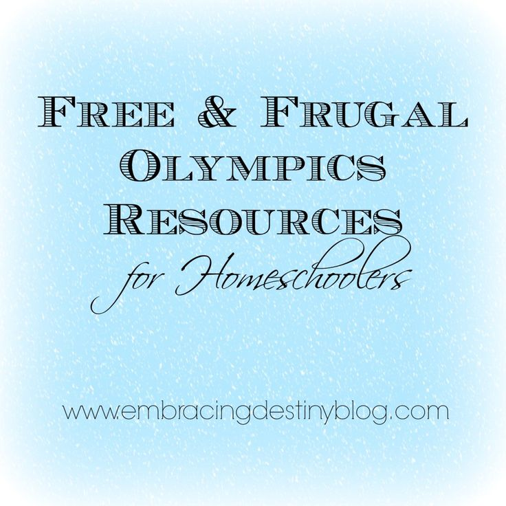 #Free & #Frugal Winter #Olympics #homeschool resources