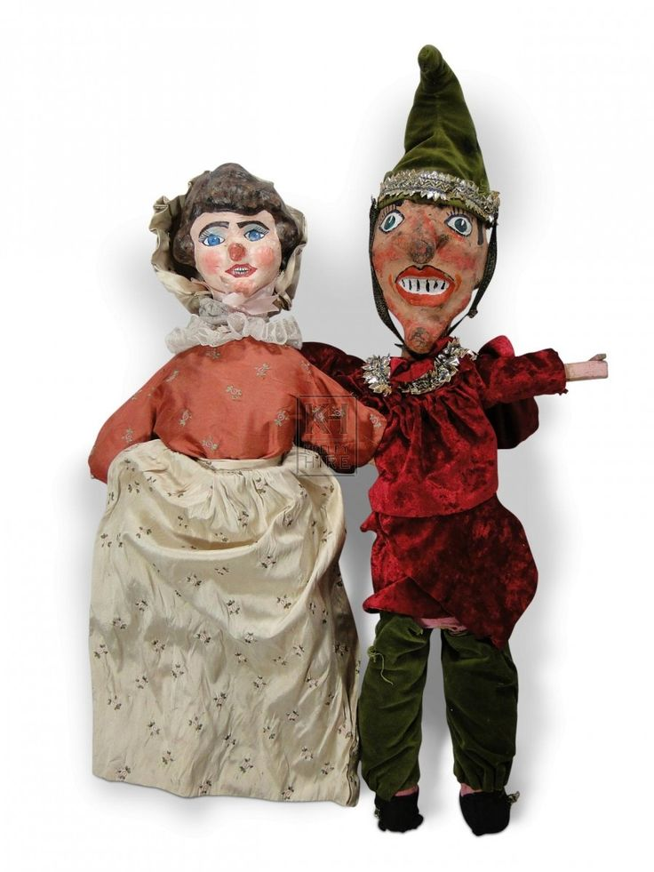 Victorian Punch and Judy puppets