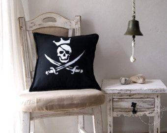 VENTA 10% pirata bandera arte náutico Jolly Roger usado en