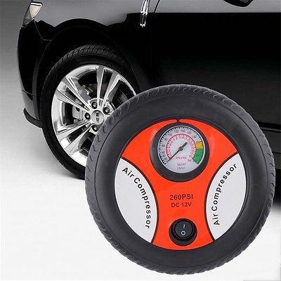 Portable Electric Mini 12V Auto Air Compressor Pump Car Tyre Tire Inflator SM