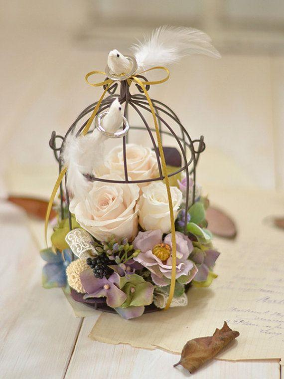 Birdcage Ring Bearer Wedding Ring Holder  Girlish by FinoJapan