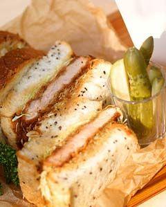 サンドイッチレシピ / やわらかヒレカツサンドイッチ