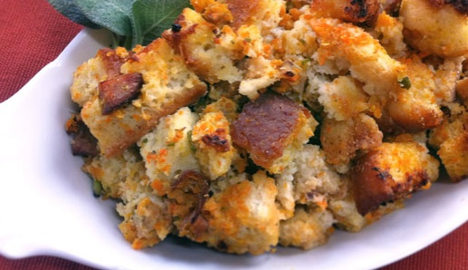 Gluten Free Thanksgiving Stuffing (Need to check the pre-boxed ingredients for diary.) Trader Joes