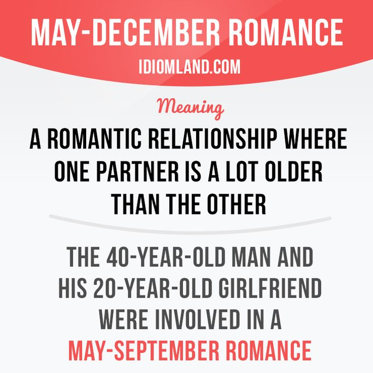 """May-December romance"" or ""May-September romance"" is a romantic relationship…"