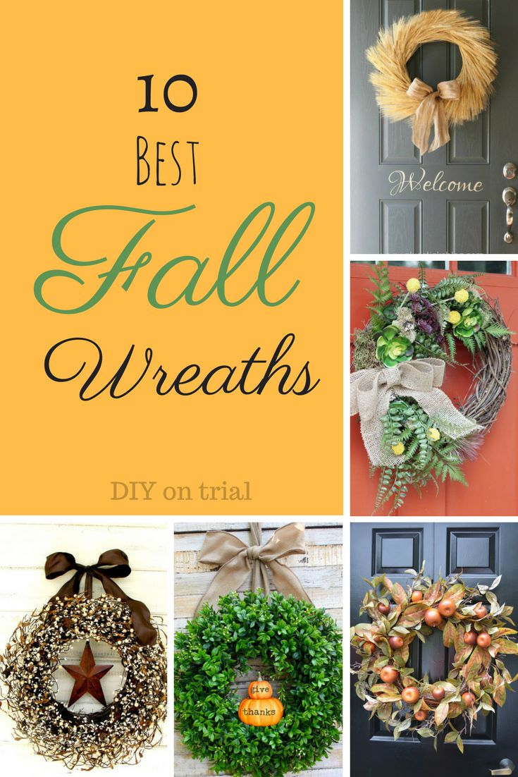 Autumn has finally arrived!  Here are 15 of the best fall wreaths for your fall décor/front porch décor!