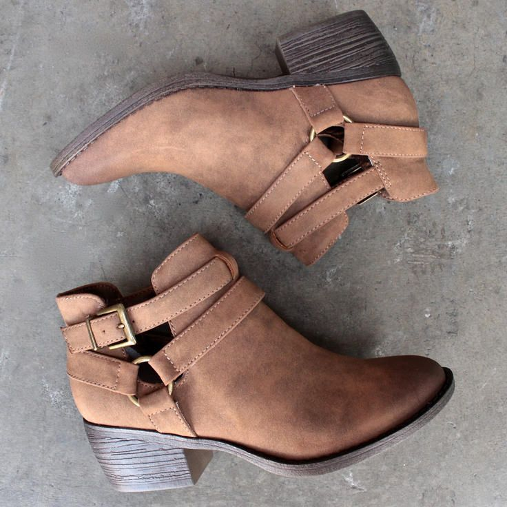 bc footwear communal cut out ankle bootie in tan