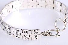 Silver bracelet 72 Names of the LORD The Kabbalah Treasures King Solomon Wisdom