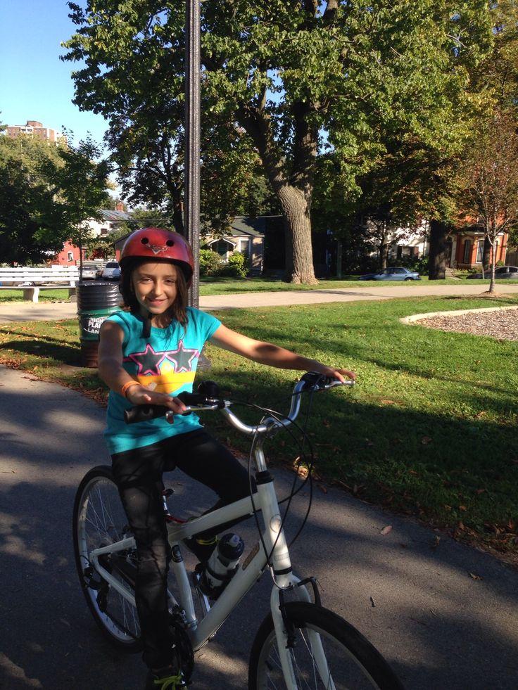 Riding Gramma's bike!