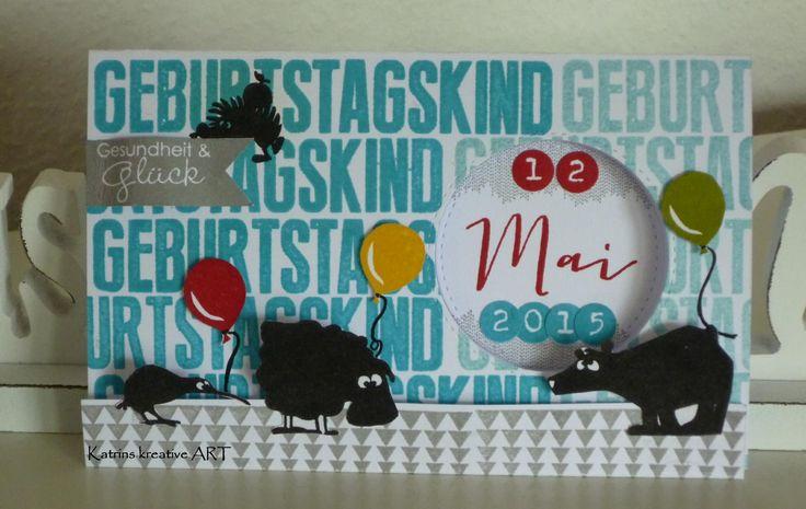 Katrins kreative ART: Tierische Geburtstagskarte für Kinder