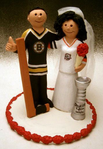hockey player wedding cake topper 60 best images about for the bruins fans on 15259